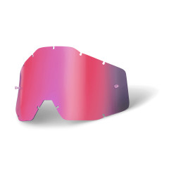 Racecraft/Accuri/Strata replacement lens 100% - Pink mirror/smoke anti-fog