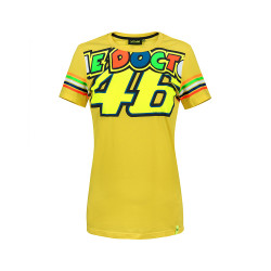 Tee women Stripes yellow