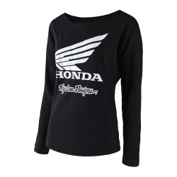 Honda Wing crew women sweat black