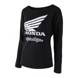 Honda Wing crew women sweat black