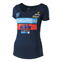 2018 KTM team women tee navy