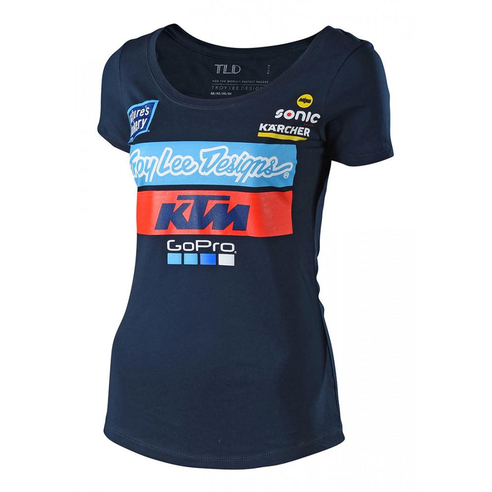 2018 KTM team women tee navy