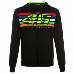 Full zip hoodie stripes black