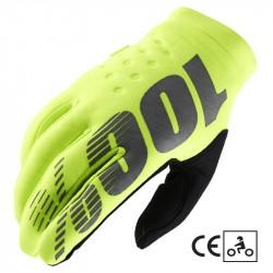 Brisker CE glove fluo yellow/black
