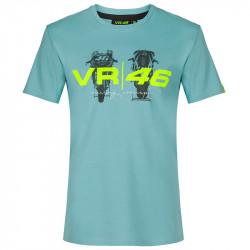 VR46 t-shirt bleu clair
