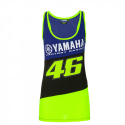 Racing top t-shirt femme bleu Yamaha