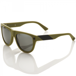 Higgins matte olive/brushed black - Grey tint lens