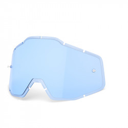 Racecraft/Accuri/Strata replacement injected lens 100% - Blue anti-fog