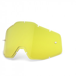 Racecraft/Accuri/Strata replacement injected lens 100% - HIPer yellow anti-fog