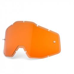 Racecraft/Accuri/Strata replacement injected lens 100% - HIPer persimmo anti-fog