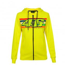 Full zip hoodie woman stripes