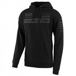 KTM team pullover hoodie black