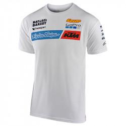 KTM team tee white