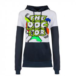 Street Art sweatshirt à capuche femme blanc/noir