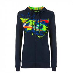 Winter Test sweatshirt à capuche femme bleu