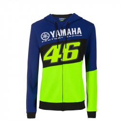 Racing sweatshirt capuche femme bleu Yamaha