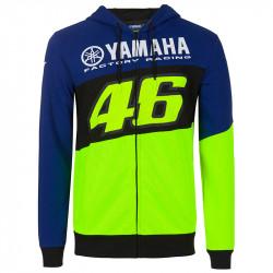 Racing sweatshirt capuche bleu Yamaha