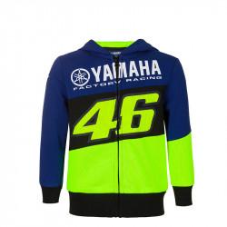 Racing sweatshirt capuche enfant bleu Yamaha