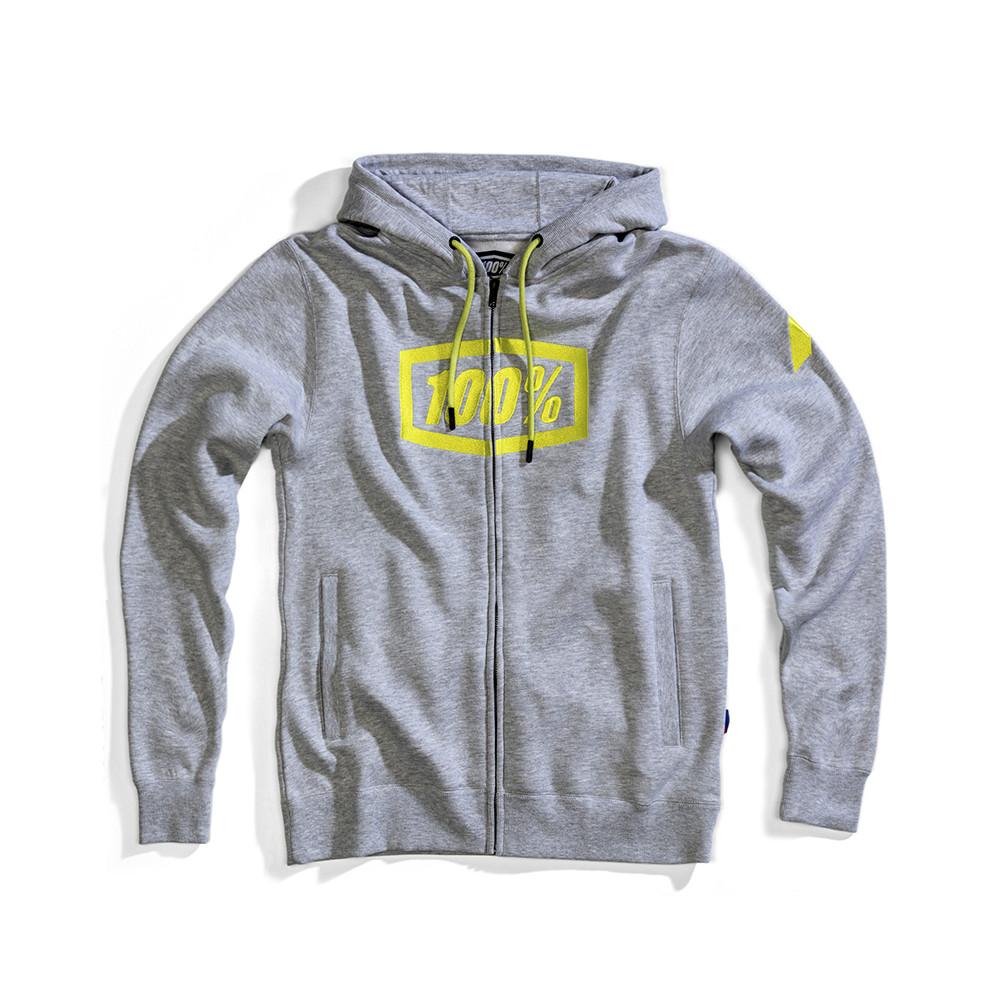 Syndicate sweat capuche zippé gris 100%