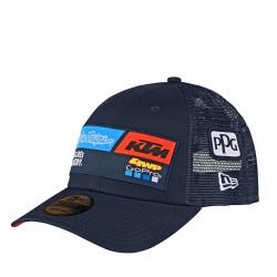 KTM team curve snapback hat navy