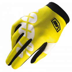 Itrack 100% Glove Neon Yellow - Size SM